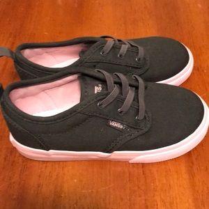 Vans NWOT. Gray slip on sneakers